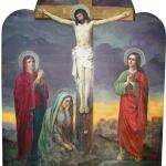 Распятие Иисуса Христа, размер: 110x130 см. Ламинат.