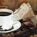 «Чашка» — часть полиптиха «Кофе». Холст/масло, размер 30x40 см. Дата создания: октябрь 2013 года. Находится в частной коллекции.