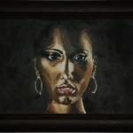 Портрет «Золотая женщина». Репродукция. Масло/дерево, размер 26x40 см. Дата создания: 27.01.2010. Находится в частной коллекции.