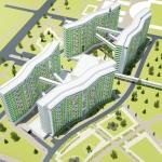 Архитектурный проект студенческого общежития, тип 5, вместимость 1320 человек
