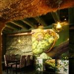 Декоративные рельефы кафе