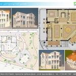 Архитектурная студия «ДГ ПРОЕКТ». Проект 3-этажной виллы в средиземноморском стиле. Кипр