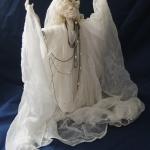 Портретная кукла - Ода свету. Цернит, текстиль. Высота 330 мм.