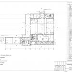 Архитектурное бюро MADE GROUP. Кафе на Славянском шоссе в Ижевске. План 1-го этажа