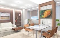 Квартира в мягких пастельных тонах. Кухня. Ижевск