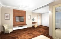 Коттедж в современном минималистическом стиле. Гостиная.