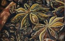 «Звездочки аниса» — часть полиптиха «Кофе». Холст/масло, размер 30x40 см. Дата создания: октябрь 2012 года. Находится в частной коллекции.