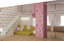 Детская девочки, мансардный этаж