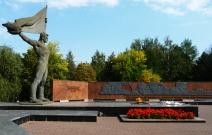 Ландшафтный дизайн площадки возле памятника ВОВ (2010).
