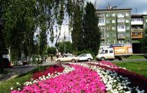 Цветники вдоль ул. Кирова (2011).