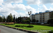 Сквер у здания администрации Президента УР (2011).