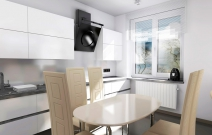 4-х комнатная. квартира в стиле хайтек.Кухня