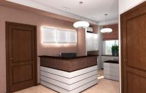 Дизайн офиса в традиционном стиле. Приёмная.