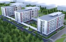 Архитектурный проект студенческого общежития, тип 5, вместимость 734 человека