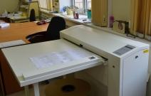 Оборудование копицентра «Пушкинский», автономный фолдер ES-TE Fold 2300 OFF-Line. Складывает документы шириной до 930 мм, длина чертежей неограничена