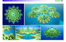 Архитектурная студия «ДГ ПРОЕКТ». Предпроектное предложение. Модульный гостиничный комплекс на искусственных островах. Дубай, ОАЭ