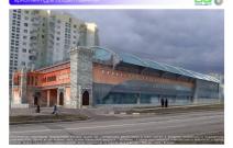 Архитектурная студия «ДГ ПРОЕКТ». Предпроектное предложение реконструкции фасадов здания для фитнес-центра в стиле хай-тек и ресторана «Самарканд» в традиционном стиле. Москва