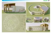 Архитектурная студия «ДГ ПРОЕКТ». Проект современного круглого загородного дома. МО