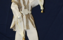 Портретная кукла - Удивление. Цернит, текстиль. Высота 330 мм.