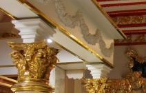 Декоративный архитрав в стиле барокко-роккоко. Магазин «Рубин», Ижевск.