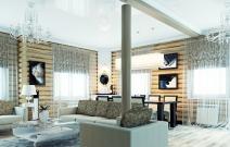 Дом деревянный. Холл.