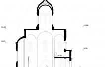 Архитектурное бюро MADE GROUP. Храм Святого Луки в Греции. Разрез