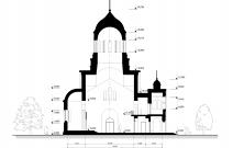 Архитектурное бюро MADE GROUP. Храм Святого Великомученика и Победоносца Георгия. Разрез