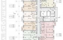 Архитектурное бюро MADE GROUP. Жилой дом «Париж» на улице Бабушкина в Ижевске. План типового этажа