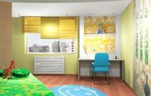 Квартира 4-комнатная. В стиле фьюжн. Детская. Ижевск