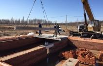 Строительство дома в п. Новый Игерман г. Ижевска, ул. Саврасова