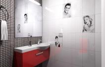 Квартира в стиле фъюжн. Кухня. Туалетная комната.
