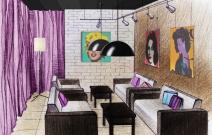 Дизайн проект зала. Ижевск